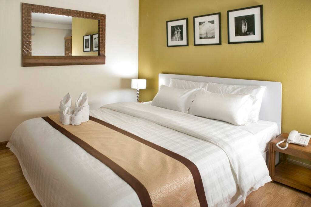 Beautiful room, great service, now at a special promotional price. Free wifi, air-con, hot shower, bicycle loan, rooftop gym amp;amp;amp; sauna, etc.