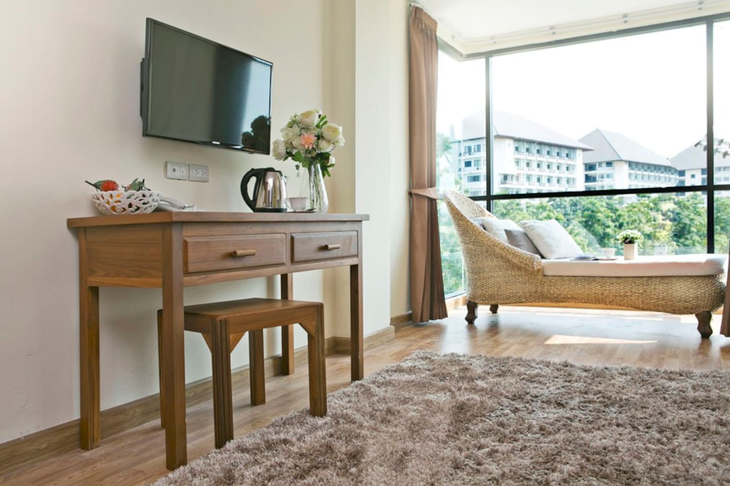 Beautiful room, great service, now at a special promotional price. Free wifi, air-con, hot shower, bicycle loan, free shuttle, rooftop gym amp;amp;amp; sauna, etc.