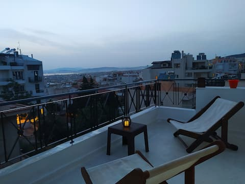 Pergam's view. Studio & Private terrace.