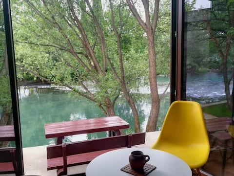 View on the river from living room and  bedroom