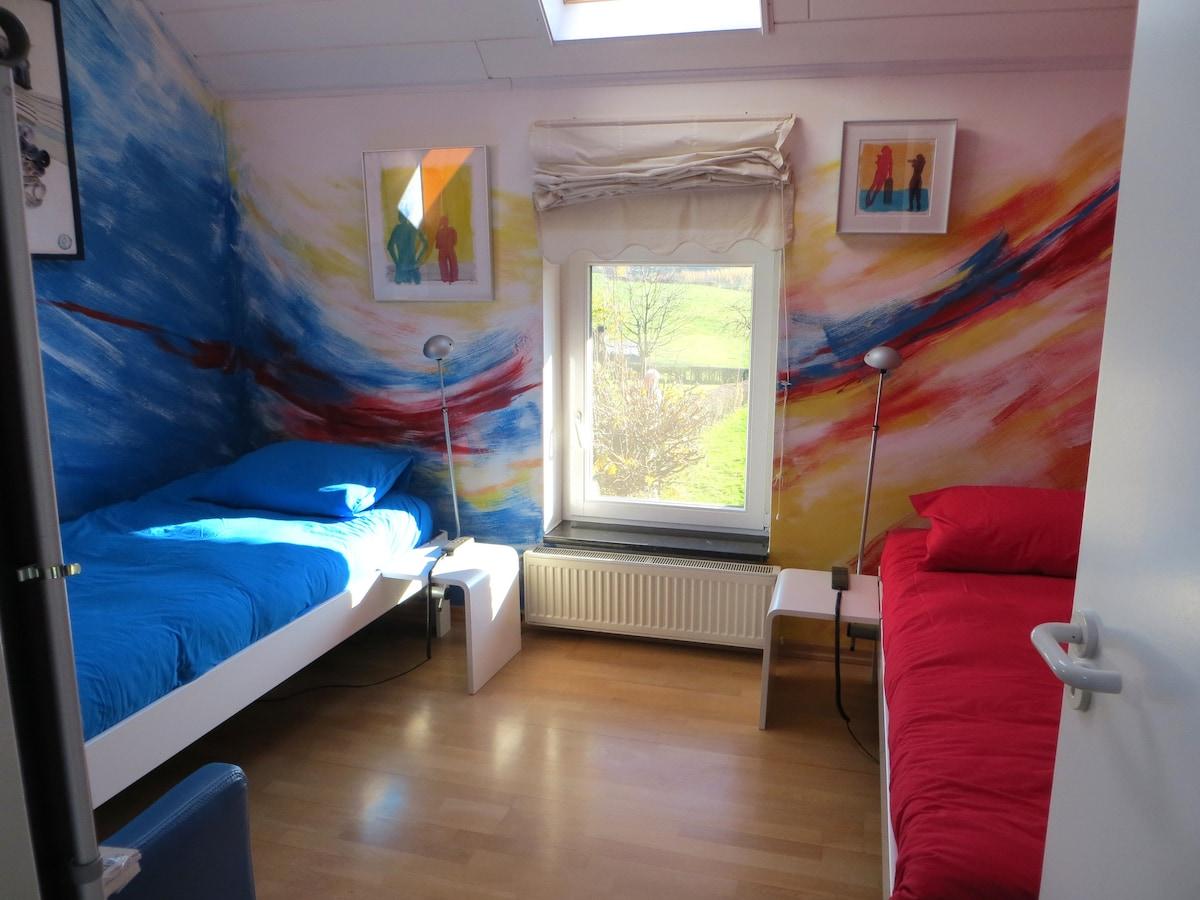 Deco kamer volwassen blauw maison design obas