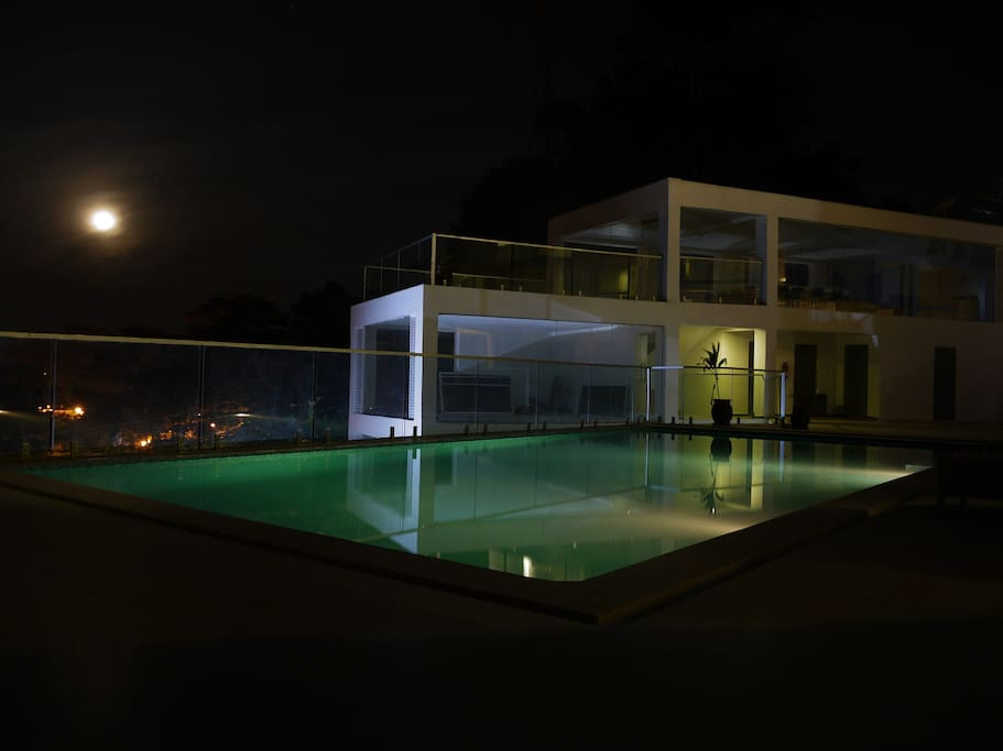 Swimming Pool View at night