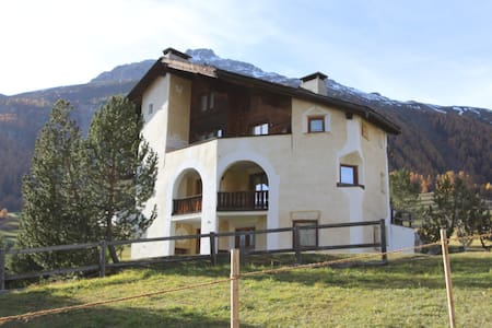 Apartment with private pool and spa - Samedan