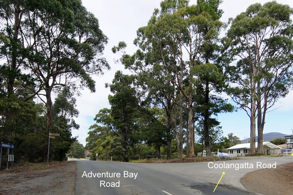 Getting There:  Turn right off Adventure Bay Road into Coolangatta Road, then it's the 1st on left