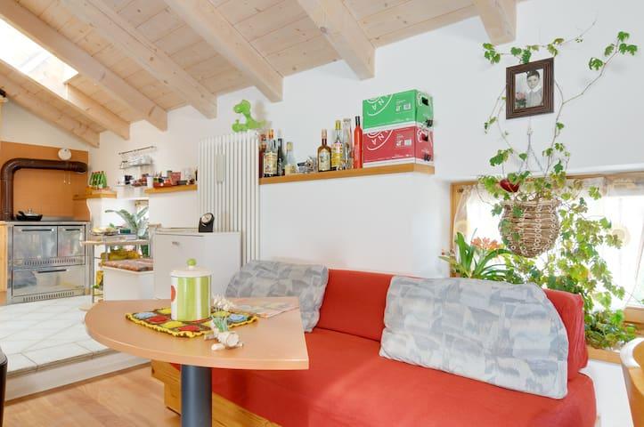 L'angolo soggiorno/cucina