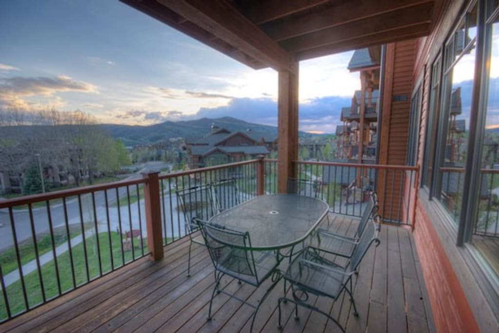 Large deck with grill and great sunset views