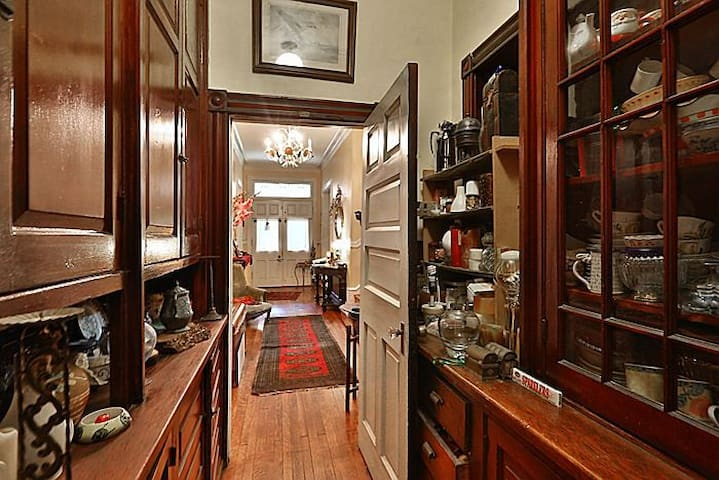 Pantry: main house corridor and entrance
