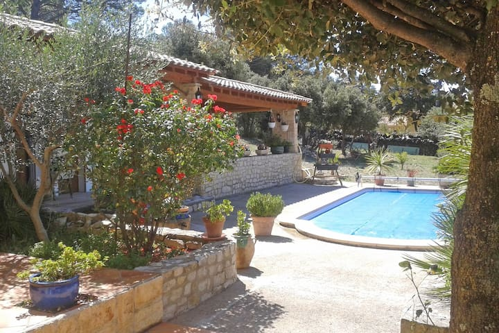 Provençal detached house with private swimming pool, situated in beautiful nature