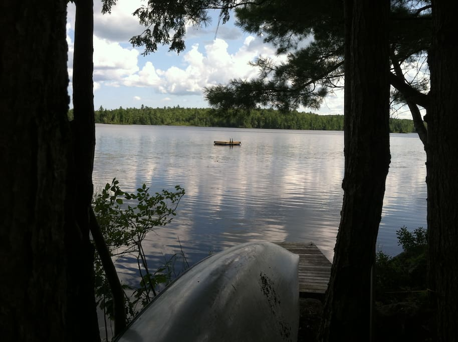 morning on Toddy Pond, private raft