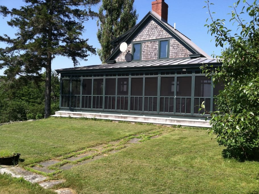 The cottage with full front screened porch