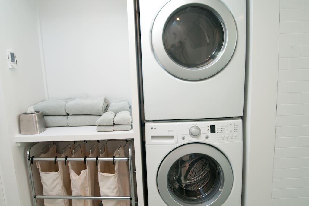 Exclusive use in-rental laundry