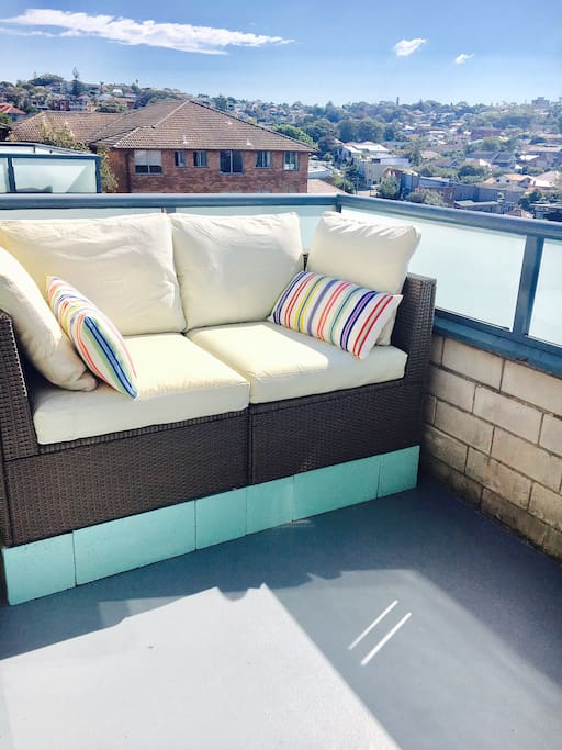 Balcony Sofa with a great ocean view!