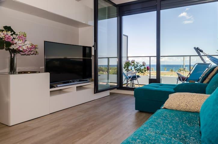Sea view bedroom, private bathroom, swimming pool - Barcelona - Apartament