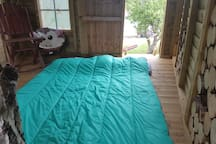Air beds and sleeping bags available