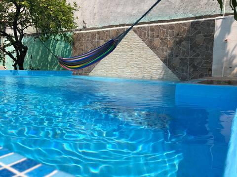 Piscina e casa particular Cuernavaca Morelos Seis bandeiras