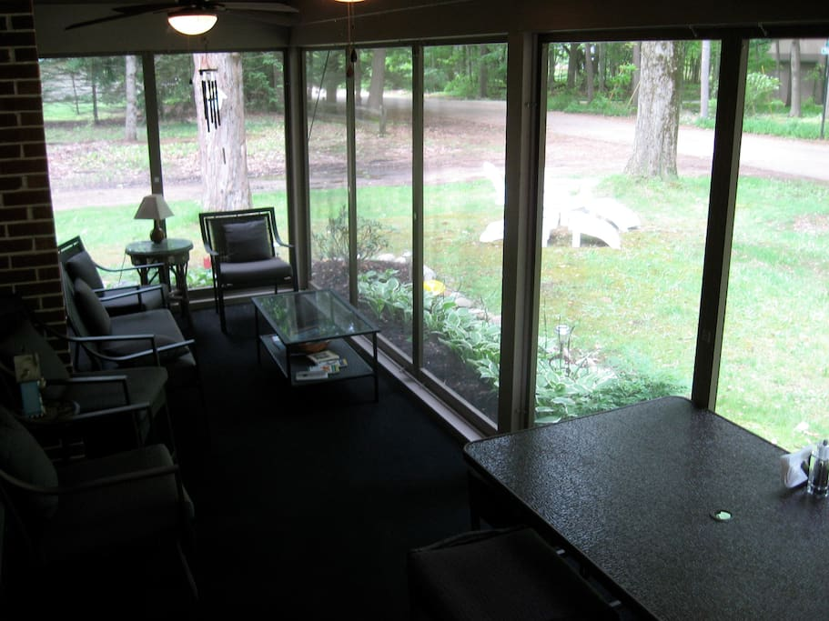 Enjoy your meals on the screened porch