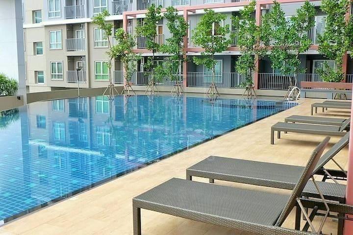 Swimming Pool View Living Rich Park @Taopoon MRT