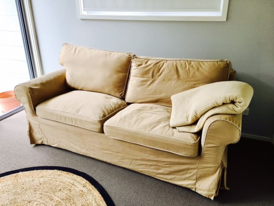 The sofa bed can be used as a bedroom or lounge
