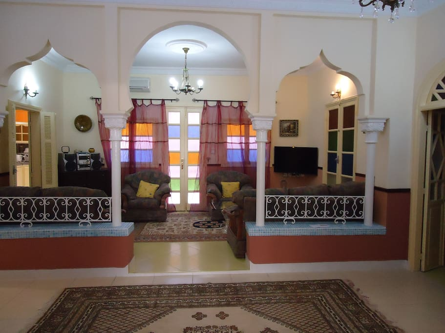 Main living space with access to the whole property.