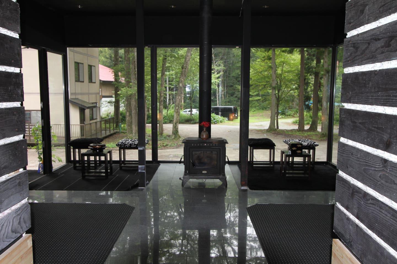 Fireside lounge view