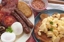 You can order from our popular breakfast menu if you like, starting from $10 per meal