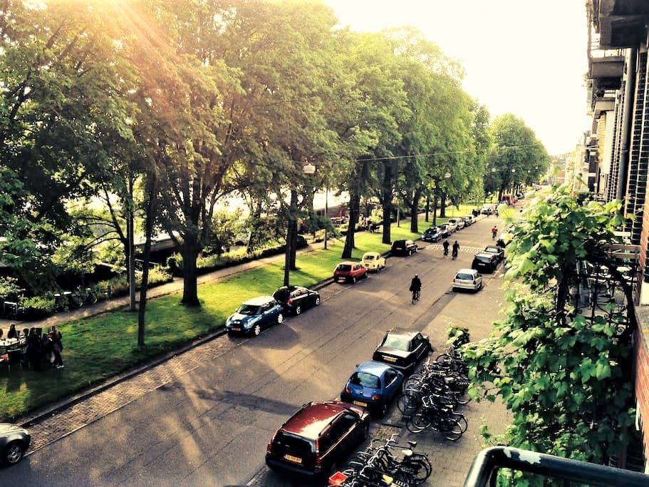 View at Amstel from balcony
