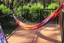 Hang out in the hammocks watching the rainforest!!