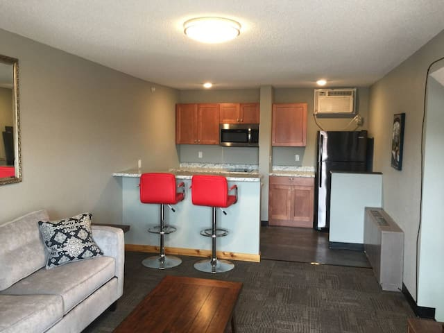Suite 213 - 1BR with 2 beds, kitchen, 2nd floor