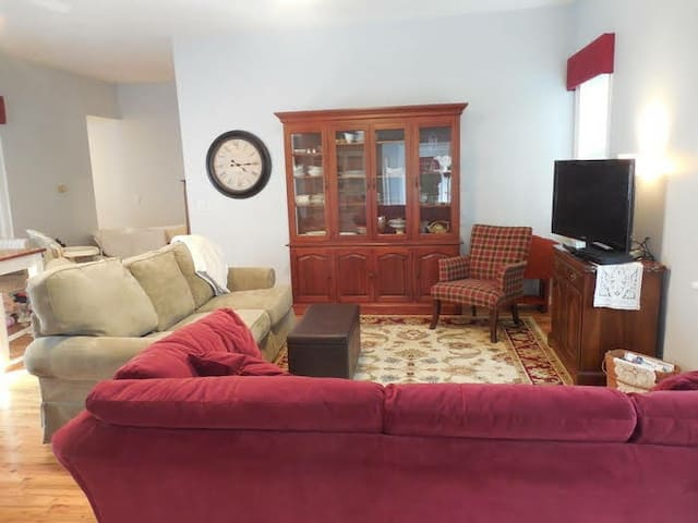 Spacious great room, pull out sofa and additional sofa!