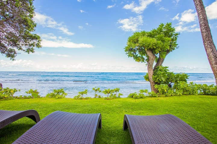 Kapaa Oceanfront 3 Bedroom, Pool, No Stairs