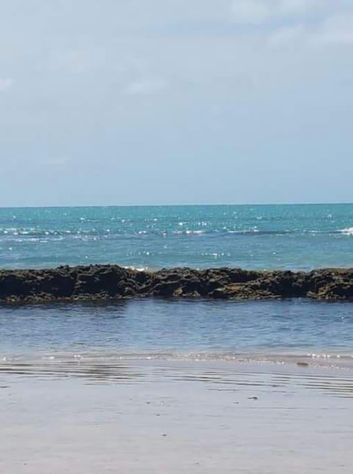 praia linda e a cinco minutos do meu prédio com arecifes
