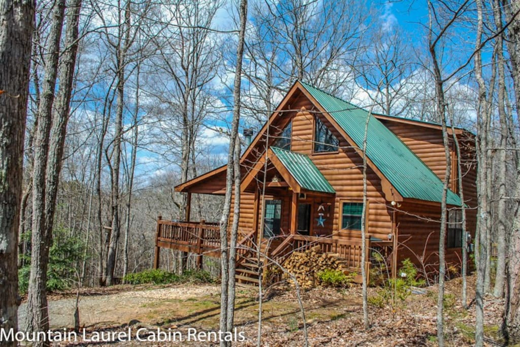 Wolf s den cabins for rent in blue ridge georgia for Large cabin rentals north georgia