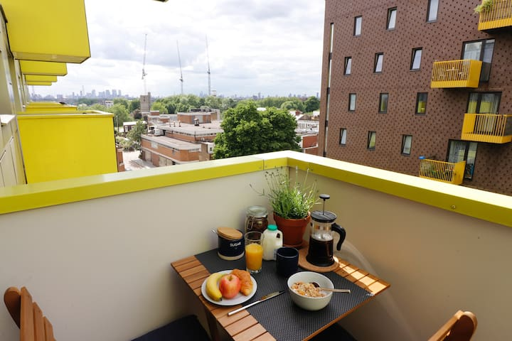 Balcony breakfast for a lovely start to the day.
