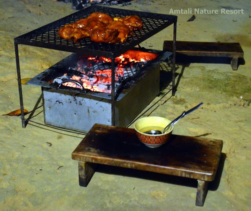 Mouth watering BBQ to entertain your appetite prepared by our staff right in front of you...