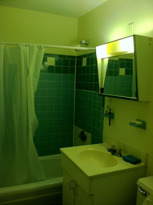 Clean and comfortable washroom/bathroom
