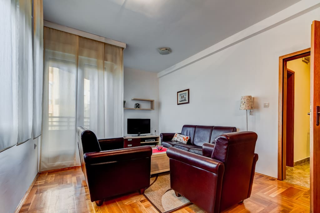 The Living Room offers an access to a balcony, cable TV and a free Wi-Fi throughout the place.