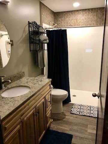 Zero-entry shower.