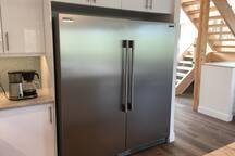 Large fridge and freezer