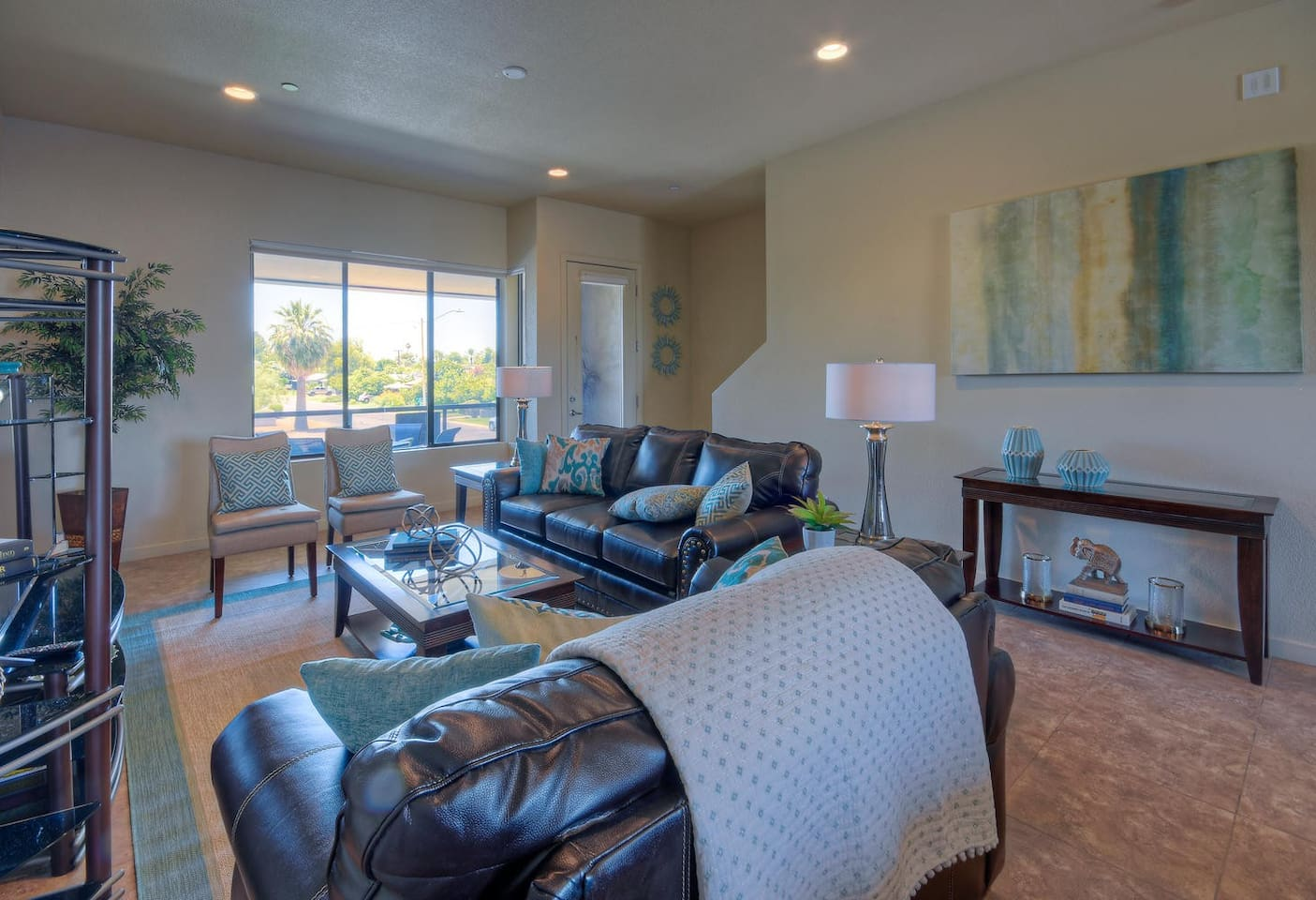 Main Living Space - open plan living/dining/kitchen with private deck overlooking pool