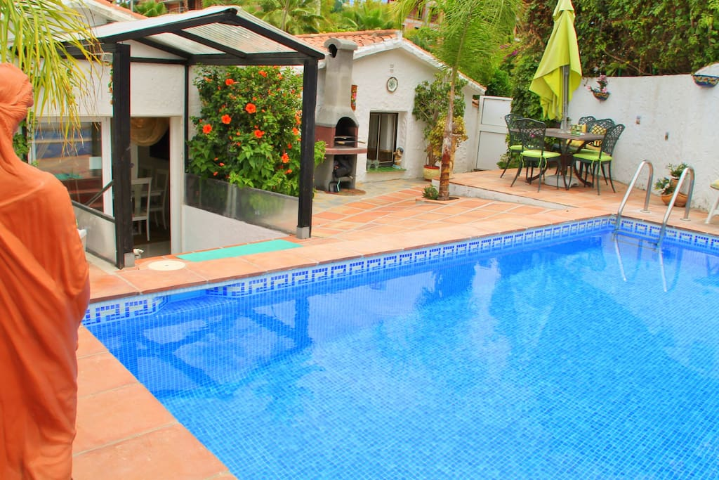 Rear view of Casa Paradiso with private pool, BBQ area and terrace