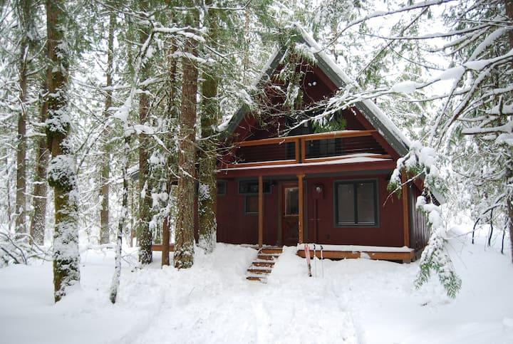 Modern/Rustic Mt Hood Cabin Near Sandy River