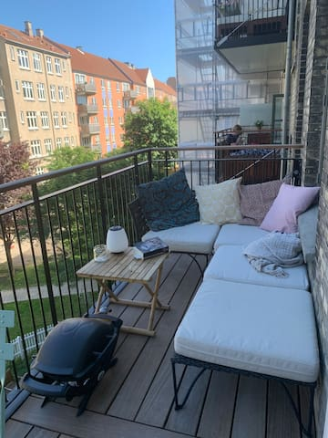 Cozy Scandi apartment with privat balcony