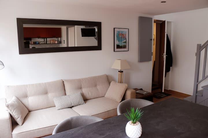 Appartement Duplex Cosy au calme à 50m de la plage
