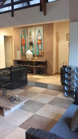 Chambre avec sdb privée dans jolie maison atypique - Chanteloup-les-Vignes - Hus