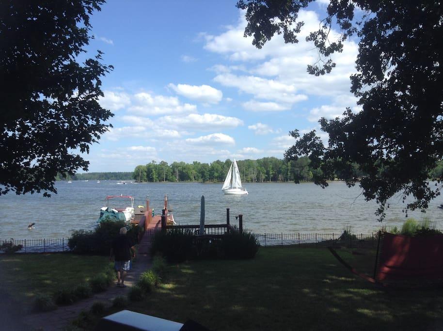 Wonderful lake front views
