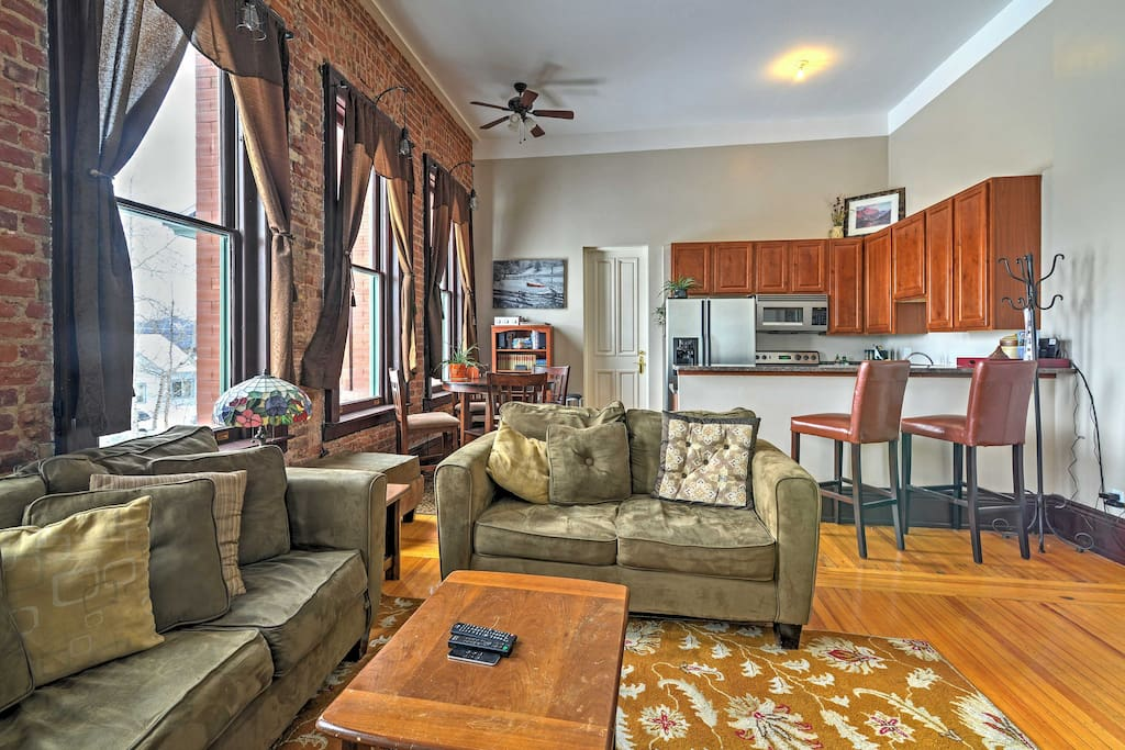 You'll find the condo's welcoming interior fully furnished with all the essential comforts of home