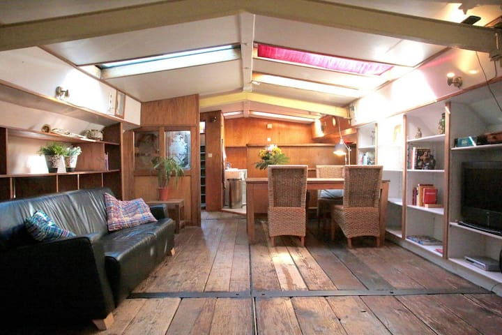 Real houseboat