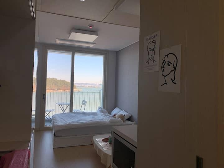 영종도 오션솔레뷰 바다뷰 숙소/햇님달님