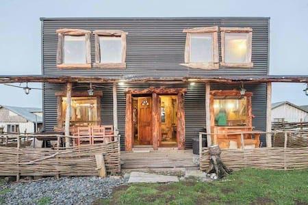 Hermosa cabaña estilo rustico