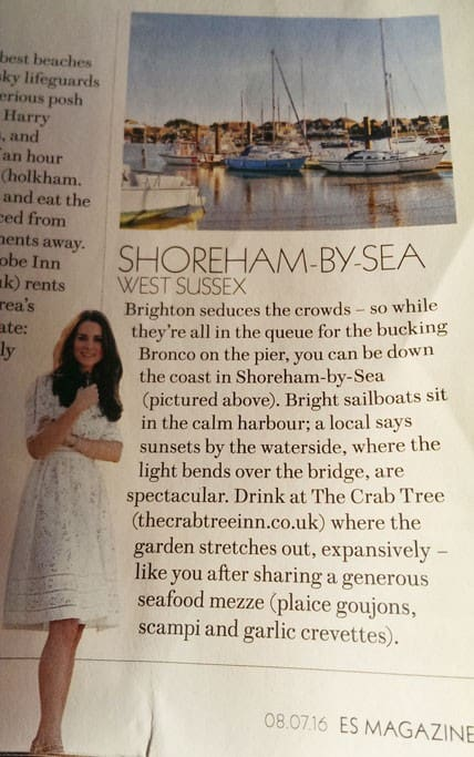Shoreham in the press - Evening Standard Mag July 2016